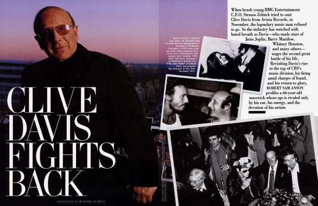 Article Preview: CLIVE DAVIS FIGHTS BACK, February 2000 | Vanity Fair