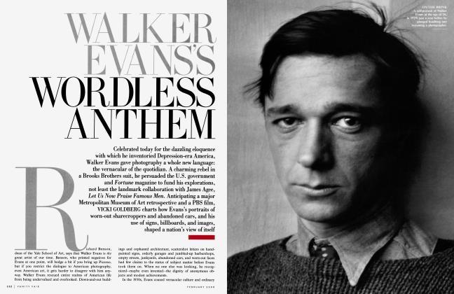 Article Preview: WALKER EVANS'S WORDLESS ANTHEM, February 2000 2000   Vanity Fair