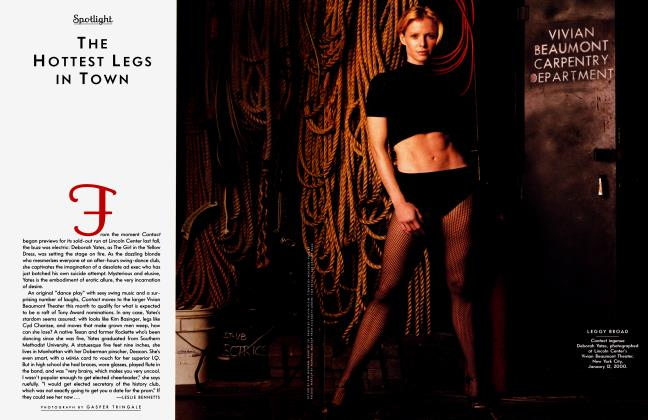 Article Preview: THE HOTTEST LEGS IN TOWN, March 2000 2000 | Vanity Fair