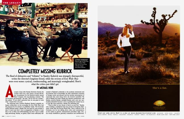 Article Preview: COMPLETELY MISSING KUBRICK, April 2000 | Vanity Fair