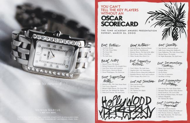 YOU CAN'T TELL THE KEY PLAYERS WITHOUT AN OSCAR SCORECARD