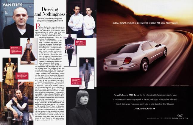 Article Preview: Dressing and Nothingness, August 2000 2000 | Vanity Fair