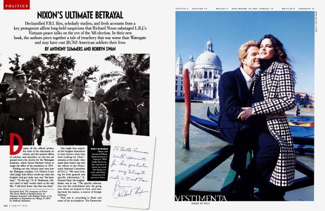 Article Preview: NIXON'S ULTIMATE BETRAYAL, September 2000 | Vanity Fair