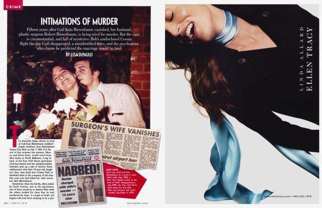 Article Preview: INTIMATIONS OF MURDER, September 2000 | Vanity Fair