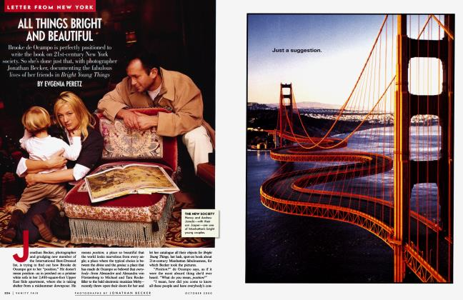 Article Preview: ALL THINGS BRIGHT AND BEAUTIFUL, October 2000 2000 | Vanity Fair