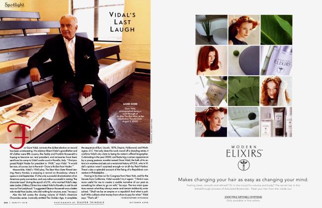 Article Preview: VIDAL'S LAST LAUGH, October 2000 2000 | Vanity Fair