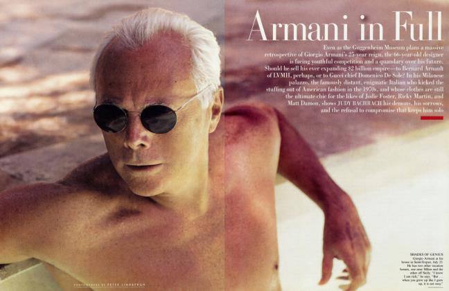 Article Preview: Armani in Full, October 2000 | Vanity Fair