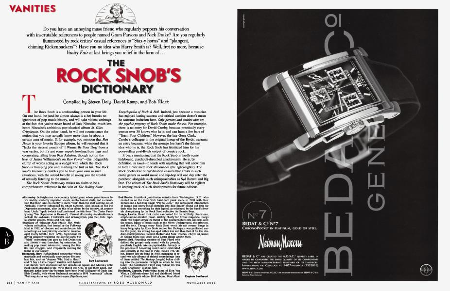 THE ROCK SNOB'S DICTIONARY