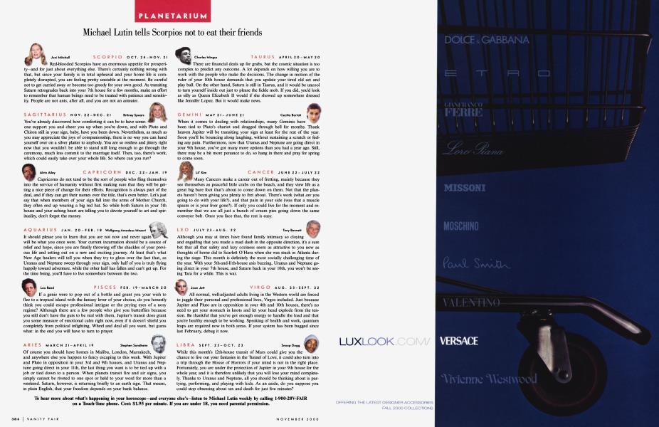 buy buy sale many styles PLANETARIUM | Vanity Fair | November 2000