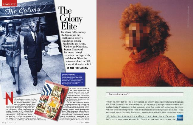 Article Preview: The Colony Elite, December 2000 | Vanity Fair