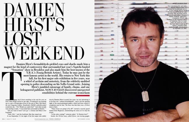 Article Preview: DAMIEN HIRST'S LOST WEEKEND, December 2000 2000 | Vanity Fair