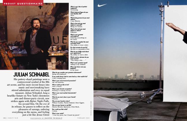 Article Preview: JULIAN SCHNABEL, February 2001 2001 | Vanity Fair