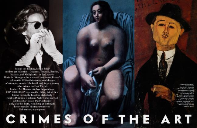 Article Preview: CRIMES OF THE ART, March 2001 | Vanity Fair