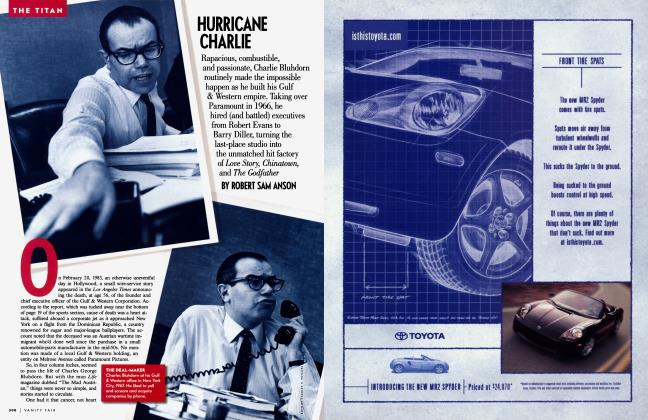Article Preview: HURRICANE CHARLIE, April 2001 2001 | Vanity Fair