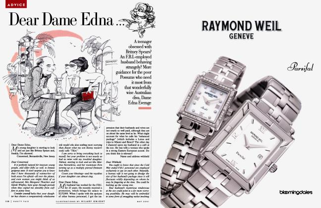 Article Preview: Dear Dame Edna ..., May 2001 2001   Vanity Fair