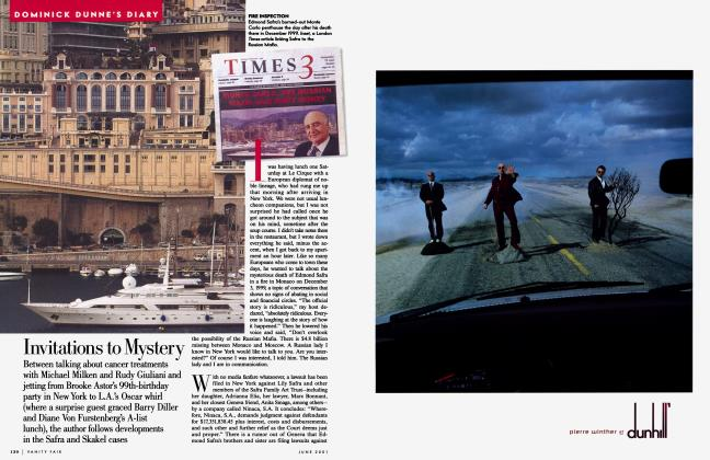 Article Preview: Invitations to Mystery, June 2001 | Vanity Fair