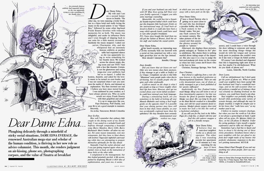 Dear Dame Edna...