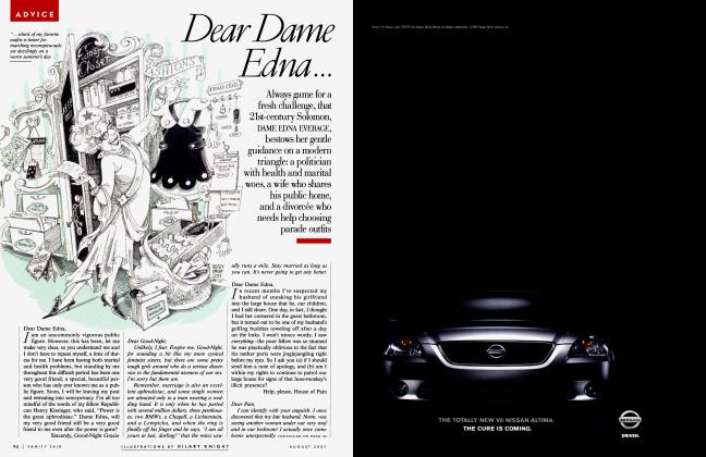 Article Preview: Dear Dame Edna..., August 2001 2001 | Vanity Fair