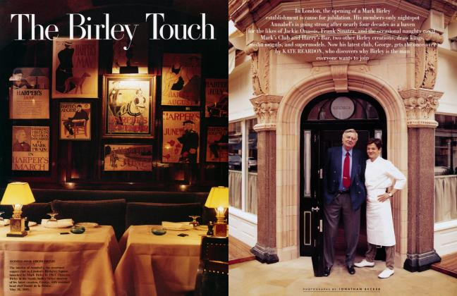 Article Preview: The Birley Touch, August 2001 2001 | Vanity Fair