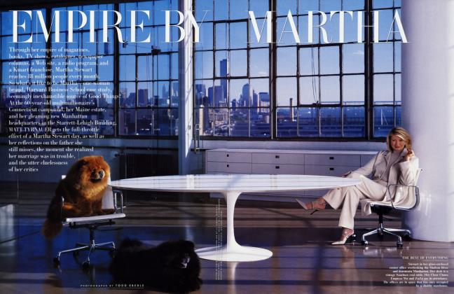 Article Preview: EMPIRE BY MARTHA, September 2001 2001 | Vanity Fair