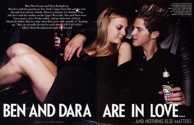 Article Preview: BEN AND DARA ARE IN LOVE AND......NOTHING ELSE MATTERS, September 2001 2001 | Vanity Fair