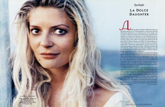 Article Preview: LA DOLCE DAUGHTER, September 2001 2001 | Vanity Fair