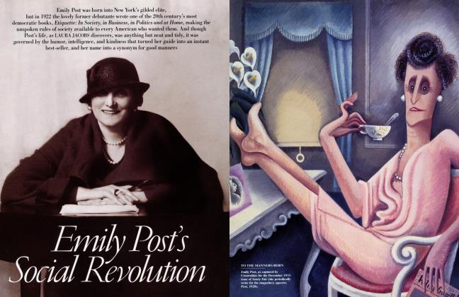 Article Preview: Emily Post's Social Revolution, December 2001   Vanity Fair