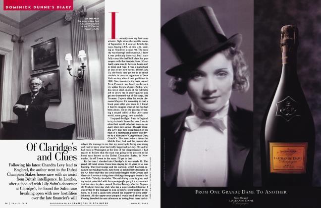 Article Preview: Of Claridge's and Clues, January 2002 2002 | Vanity Fair
