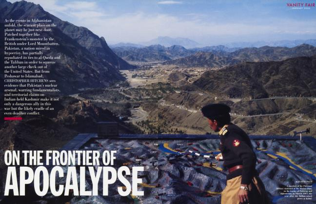 Article Preview: ON THE FRONTIER OF APOCALYPSE, January 2002 2002 | Vanity Fair
