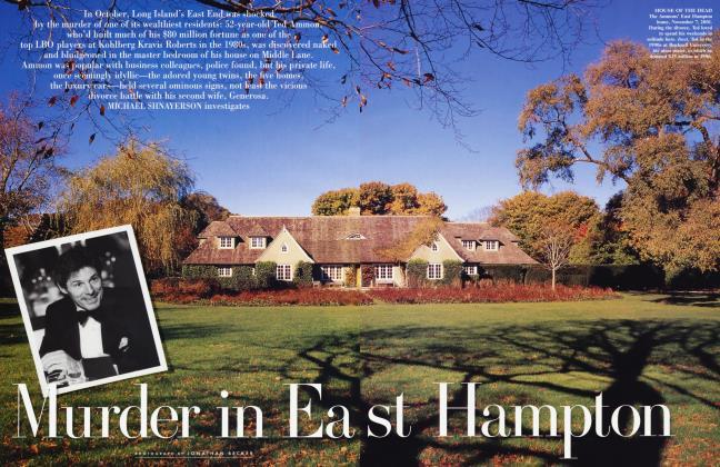 Article Preview: Murder in East Hampton, January 2002 2002 | Vanity Fair
