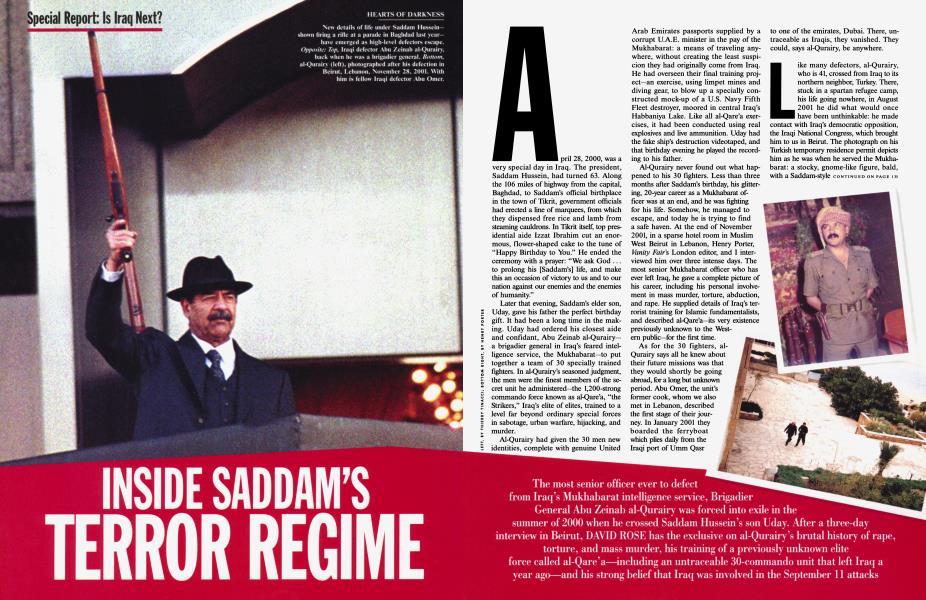INSIDE SADDAM'S TERROR REGIME