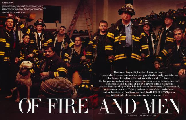 Article Preview: OF FIRE AND MEN, March 2002 | Vanity Fair