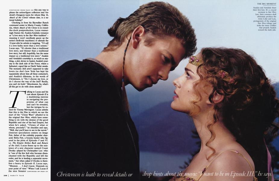 Love In A Distant Galaxy Vanity Fair March 2002
