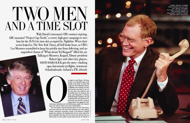 Article Preview: TWO MEN AND A TIME SLOT, June 2002 2002 | Vanity Fair