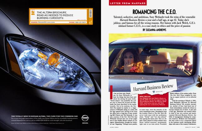 Article Preview: ROMANCING THE C.E.O., June 2002 2002   Vanity Fair