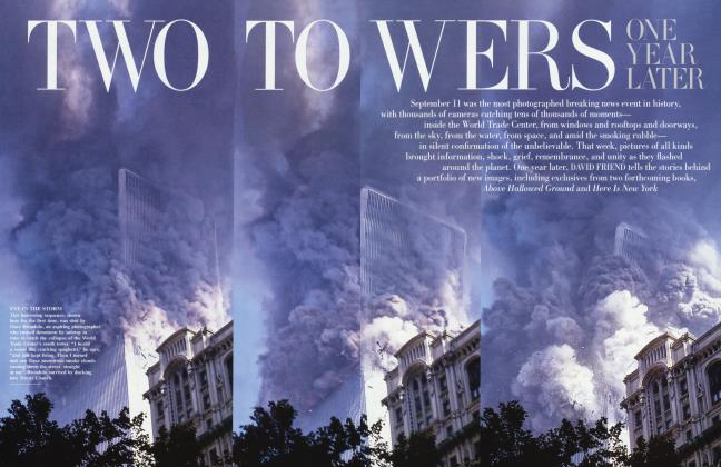 Article Preview: TWO TOWERS ONE YEAR LATER, September 2002 | Vanity Fair