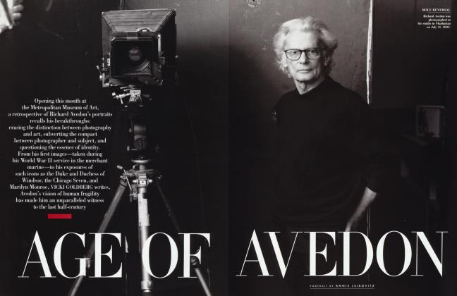 Article Preview: AGE OF AVEDON, September 2002 2002 | Vanity Fair