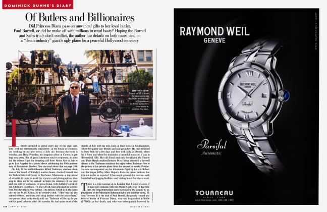 Article Preview: Of Butlers and Billionaires, October 2002 2002 | Vanity Fair