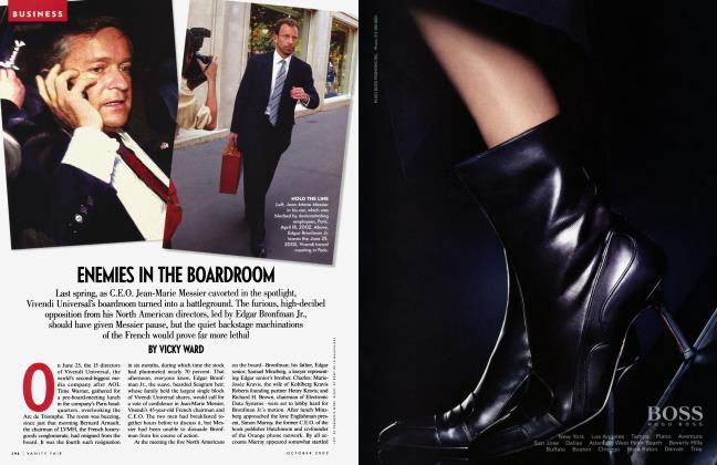 Article Preview: ENEMIES IN THE BOARDROOM, October 2002 2002 | Vanity Fair