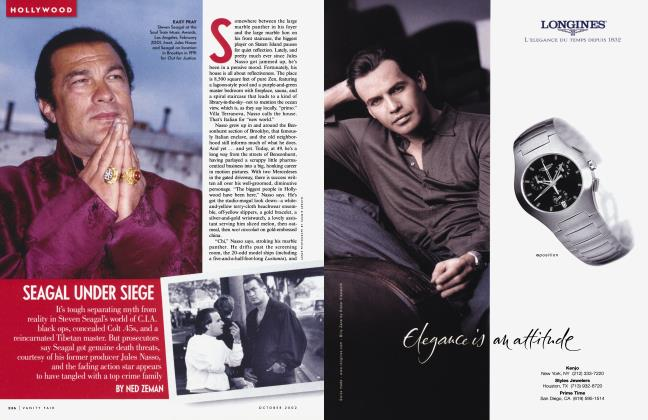 Article Preview: SEAGAL UNDER SIEGE, October 2002 2002 | Vanity Fair