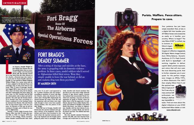Article Preview: FORT BRAGG'S DEADLY SUMMER, December 2002 | Vanity Fair