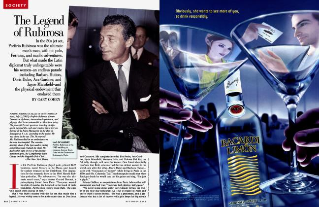 Article Preview: The Legend of Rubirosa, December 2002 | Vanity Fair