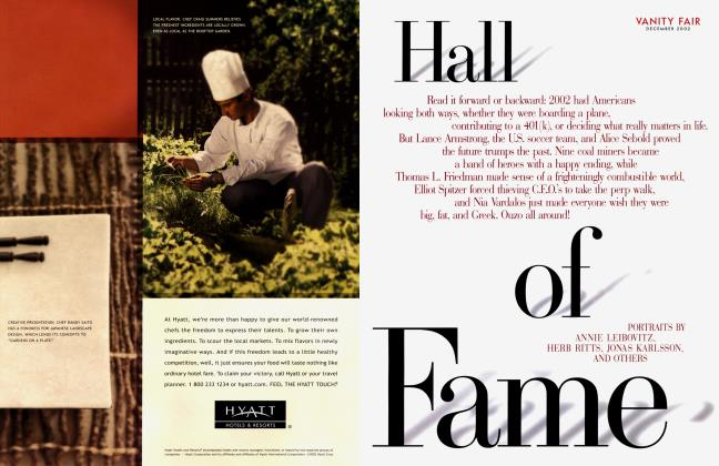 Article Preview: Hall of Fame, December 2002 2002 | Vanity Fair