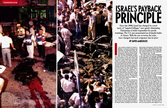 Article Preview: ISRAEL'S PAYBACK PRINCIPLE, January 2003 2003 | Vanity Fair