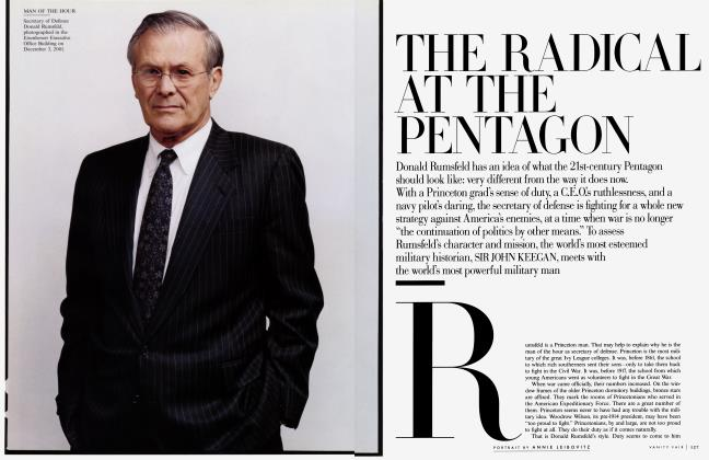 Article Preview: THE RADICAL AT THE PENTAGON, February 2003 2003 | Vanity Fair