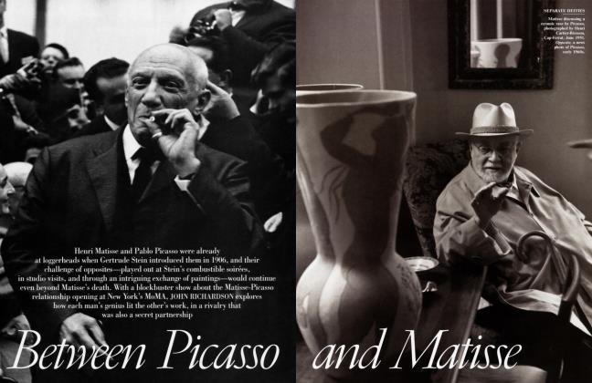 Article Preview: Between Picasso and Matisse, February 2003 2003   Vanity Fair
