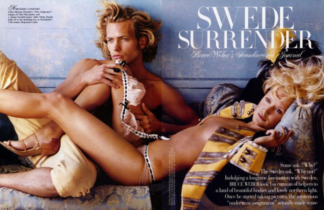 Article Preview: SWEDE SURRENER Bruce Weber's Scandinavian Journal, FEBRUARY 2003 2003 | Vanity Fair