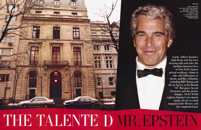 Article Preview: THE TALENTED MR. EPSTEIN, March 2003 2003 | Vanity Fair