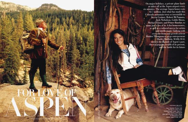 Article Preview: FOR LOVE OF ASPEN, March 2003 | Vanity Fair