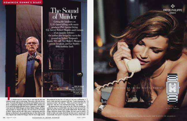 Article Preview: The Sound of Murder, April 2003 2003 | Vanity Fair